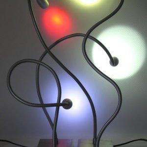 leeslamp met flexibel en vierkante voet