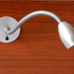 Leeslamp flexibel montage via achterzijde LOLO BED met schakelaar