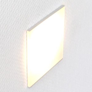 LED orientation light for flush-mounted box in a wall. With a translucent matt plexiglass in an aluminum holder