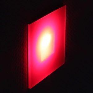 oriëntatieverlichting led met rode kleurenfilter 10 x 10 cm