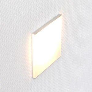 LED orientation light for flush-mounted box INZO 80. With a translucent matt plexiglass in an aluminum holder. Dimensions 80 x 80mm