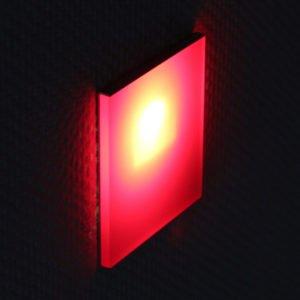 oriëntatieverlichting led met rode kleurenfilter 8 x 8 cm