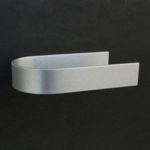 toilet roll holder design self adhesive in anodised aluminum with an open side