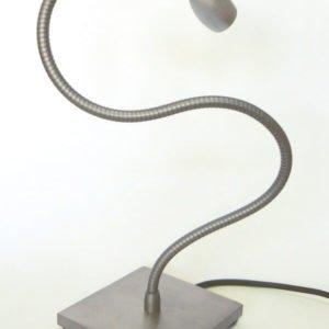 Bed leeslamp met flexibel en voet LOLO TABLE aluminium kleur