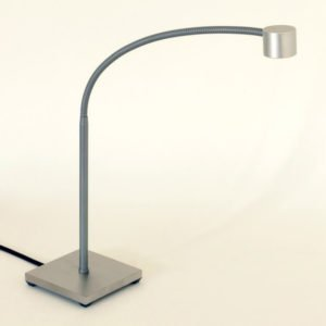 desk lamp with base flexible Ø8 x535mm total length with rigid tube at the bottom