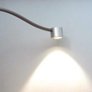 Leeslamp met flexibel en LED aluminium kleur lichtuitstraling 80 graden